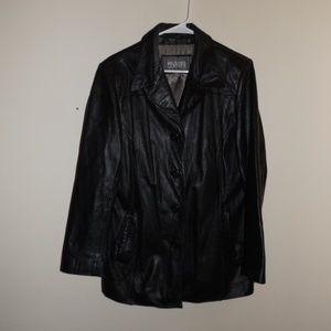 Wilsons Leather Black Large Jacket
